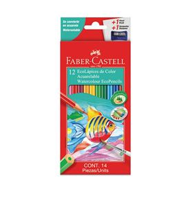 Faber-Castell - 12 EcoLápices de color acuarelables