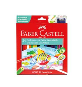 Faber-Castell - 24 EcoLápices de color acuarelables