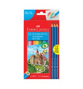Faber-Castell - 12 EcoLápices de color + 3 EcoLápices de grafito